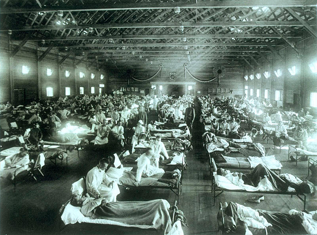 Military hospital during the 1918 Spanish flu pandemic
